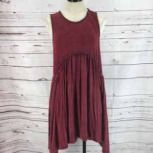 JM Clothing Faded Burgundy Sleeveless Tunic Top